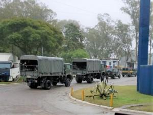 O TRANSPORTE para o destino foi realizado pelo Exército Brasileiro.
