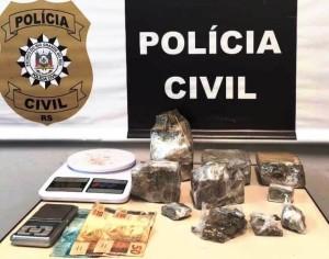 O suspeito foi monitorado pelos agentes durante três meses