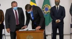 A liberação do recurso foi feita por meio de Medida Provisória assinada, nesta quinta-feira (6), pelo presidente da República, Jair Bolsonaro, em cerimônia no Palácio do Planalto.
