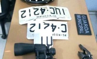 GUARDA MUNICIPAL :  Prisão de casal pelo porte  ilegal de arma e receptação