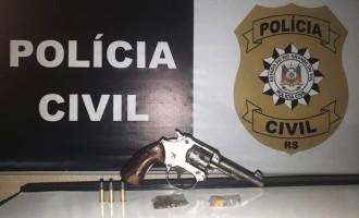 POLÍCIA CIVIL  : Mulher flagrada com  arma de traficante