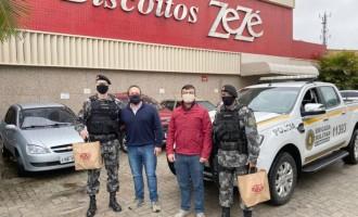Biscoitos Zezé destina parte de seu ICMS ao 5º Batalhão de Polícia de Choque do Rio Grande do Sul