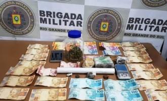 BRIGADA : Casal de traficantes é  preso no bairro Fragata