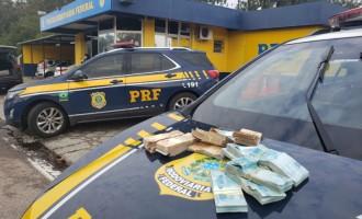 PRF apreende 117 mil reais sem procedência em Pelotas
