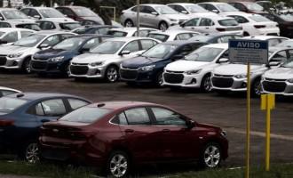 Vendas de veículos novos têm queda de 13,6% em agosto