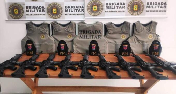 BRIGADA : Novos equipamentos e  armas no 5º BPChq