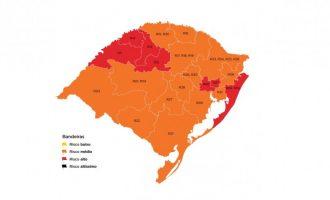 MAPA DO ESTADO : Pedidos de reconsideração de Caxias do Sul, Guaíba, Passo Fundo e Porto Alegre foram aceitos pelo Gabinete de Crise