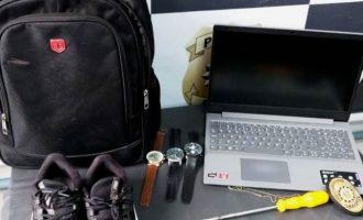 POLÍCIA CIVIL  : Ladrão é preso em flagrante ao  sair de apartamento no Porto