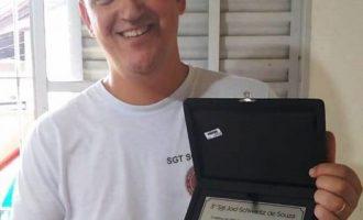 30 ANOS DE BM : Sargento em Morro Redondo recebe homenagem por tempo de serviço