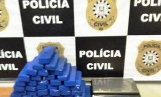 Polícia apreende 29 kg de maconha