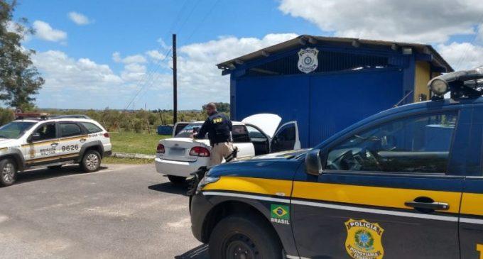 PRF e BM prendem família transportando cocaína em Arroio Grande
