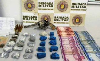 Flagrantes da Brigada Militar  no combate ao tráfico de drogas