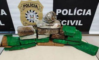 Polícia Civil apreende oito quilos de maconha