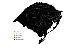 RS tem a sexta semana consecutiva de bandeira preta nas 21 regiões
