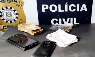 POLÍCIA CIVIL  : Apreensão de R$7 mil e munições