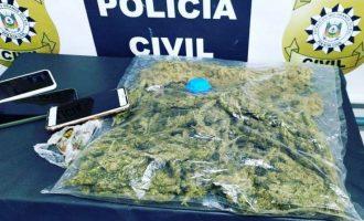 POLÍCIA CIVIL : Trio é flagrado ao chegar  da fronteira com Skunk