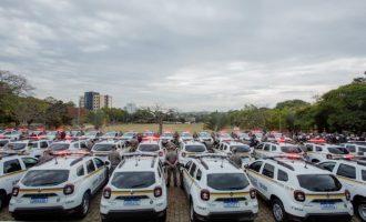 Brigada recebe 221 veículos entre viaturas semiblindadas, motos e ônibus