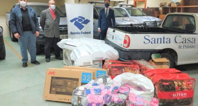 Receita Federal destina mercadorias apreendidas à Santa Casa de Pelotas