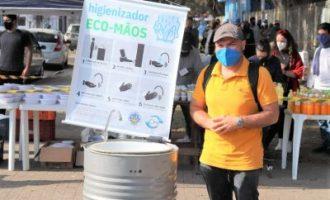Higienizador Eco-Mãos da UFPel auxilia nos cuidados contra a Covid-19