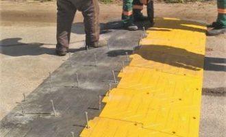 Prefeitura instala lombada ecológica na Zeferino Costa