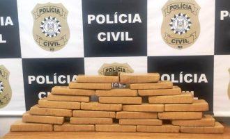 POLÍCIA CIVIL  : Traficante é flagrado com  quinze quilos de maconha