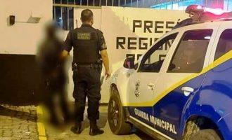 GUARDA MUNICIPAL  : Homem é preso por danos  em postes de iluminação